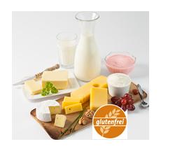 Glutenfreie Milch- und Molkereiprodukte