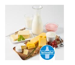 Laktosefreie Milch- und Molkereiprodukte