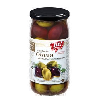 Griechische Oliven Mit Mediterranen Kräutern 370g