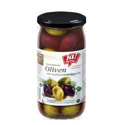 Griechische Bio-Oliven mit Kräutern