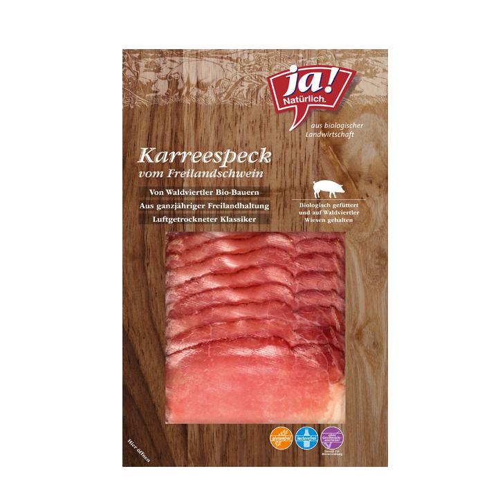 Karreespeck Vom Freilandschwein Geschnitten 80g