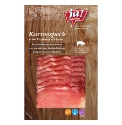 Bio-Karreespeck vom Freilandschwein in Scheiben