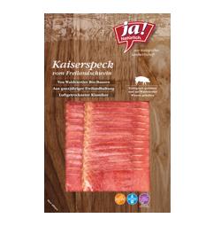 Bio-Kaiserspeck vom Freilandschwein in Scheiben
