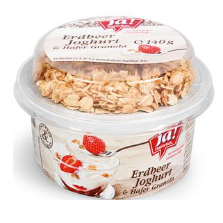 Joghurt Griechische Art - Erdbeer 125g Mit Knuspermüsli 15g