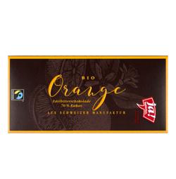 Edelbitterschokolade Orange 100g