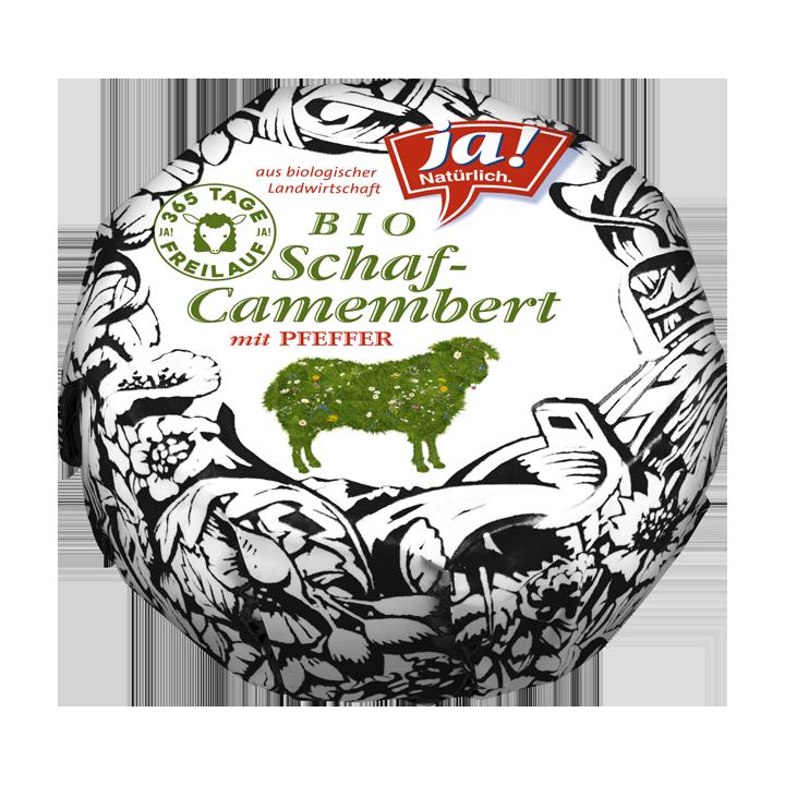 Bio-Schafmilch Camembert mit Pfeffer