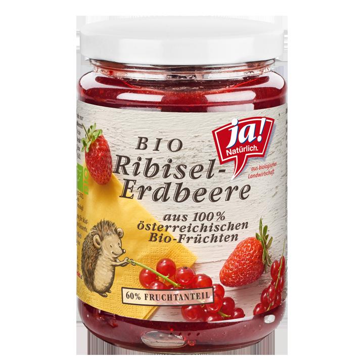 Bio-Fruchtaufstrich Ribisel-Erdbeere