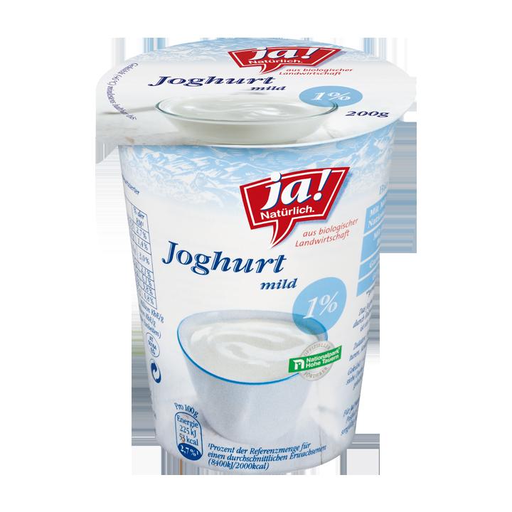 Bio-Naturjoghurt 1%, 200 g