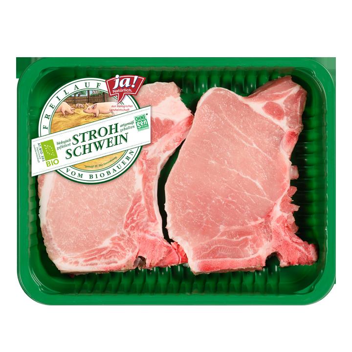 Fleisch vom Bio-Stroh-Schwein