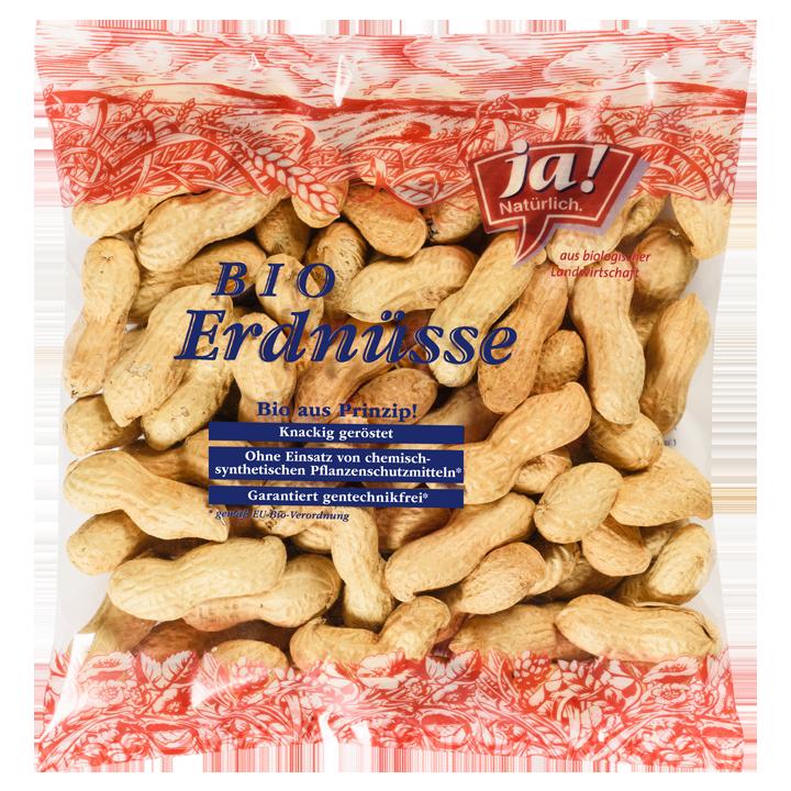 Bio-Erdnüsse in Schale