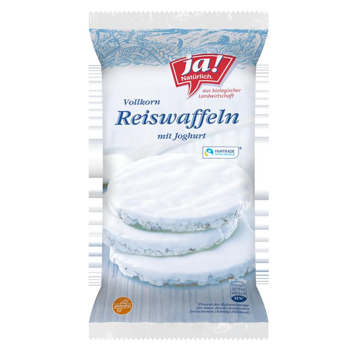 Bio-Reiswaffeln mit Joghurt