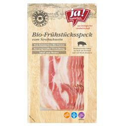Bio-Frühstücksspeck vom Strohschwein in Scheiben