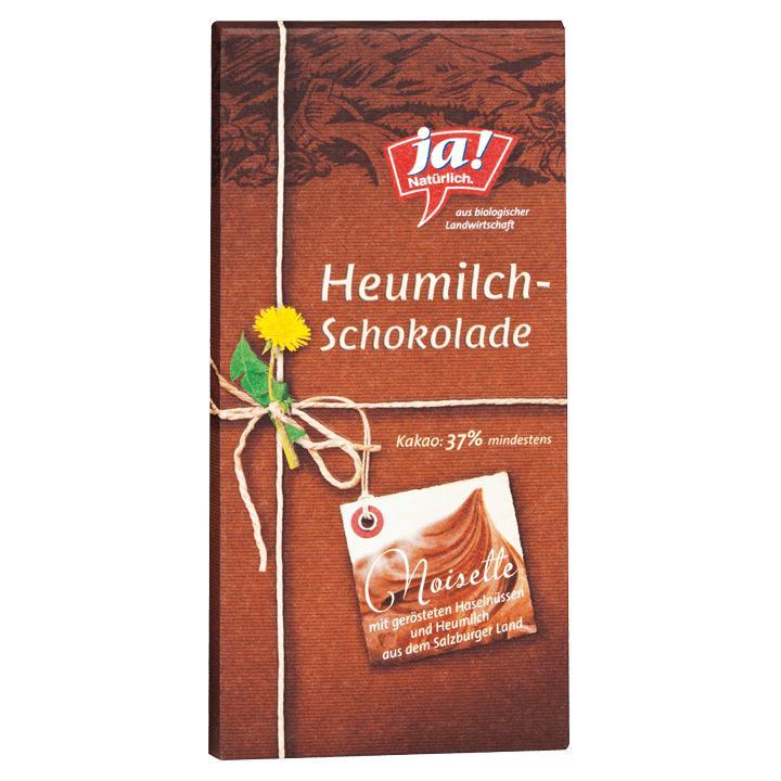 Heumilchschokolade Noisette 80g