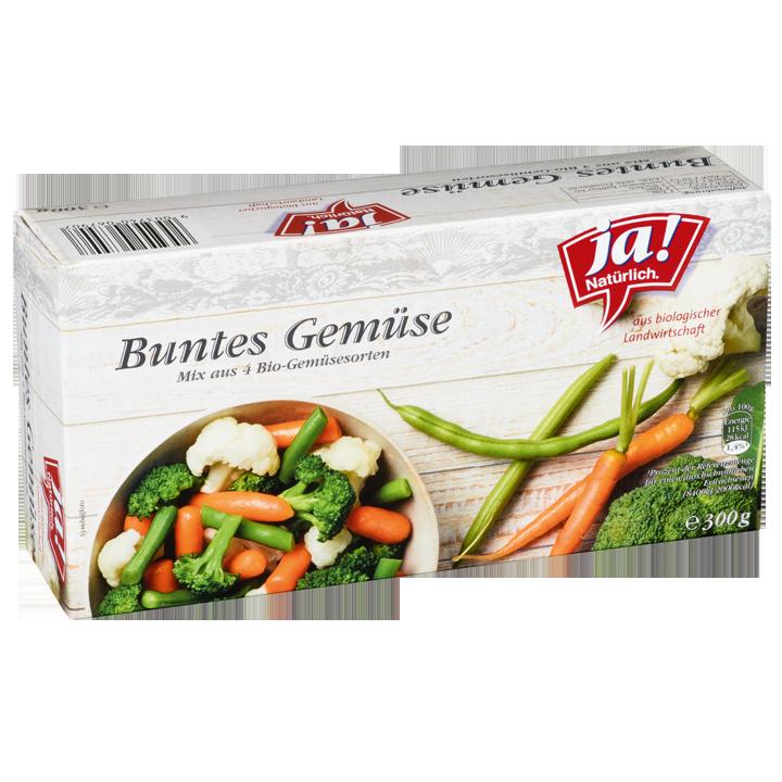 Bio-Buntes Gemüse