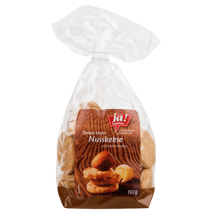 Dinkel-Hafer-Nuss Kekse 150g