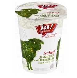 Schafheumilchjoghurt Natur Mind. 4.5% Fett 400g