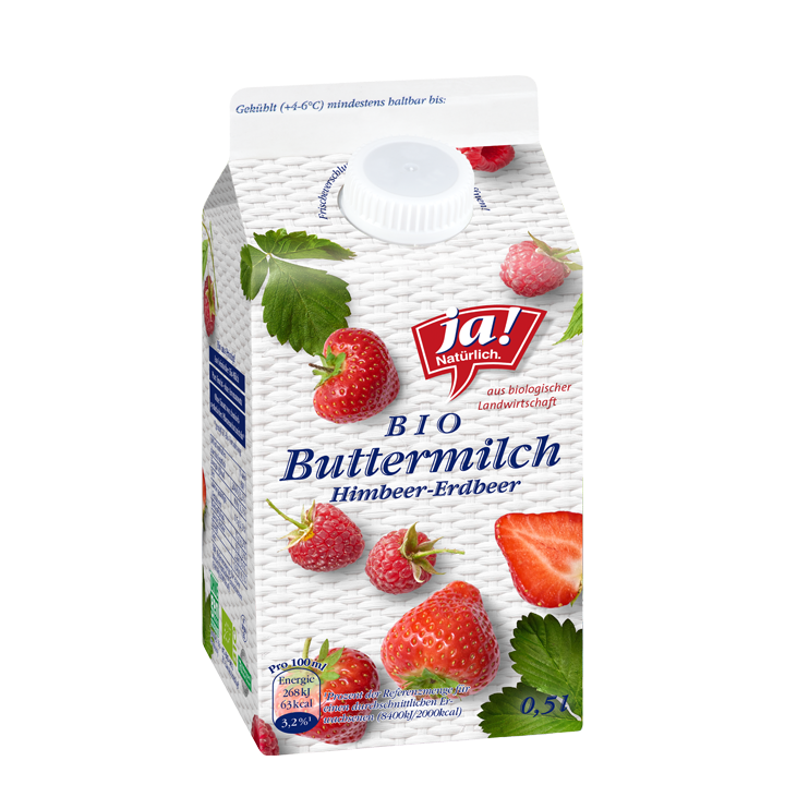 Bio-Buttermilch Himbeer Erdbeer