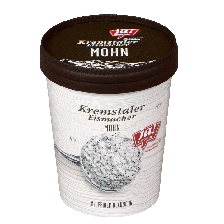 Kremstaler Eismacher Mohn Eis 500ml