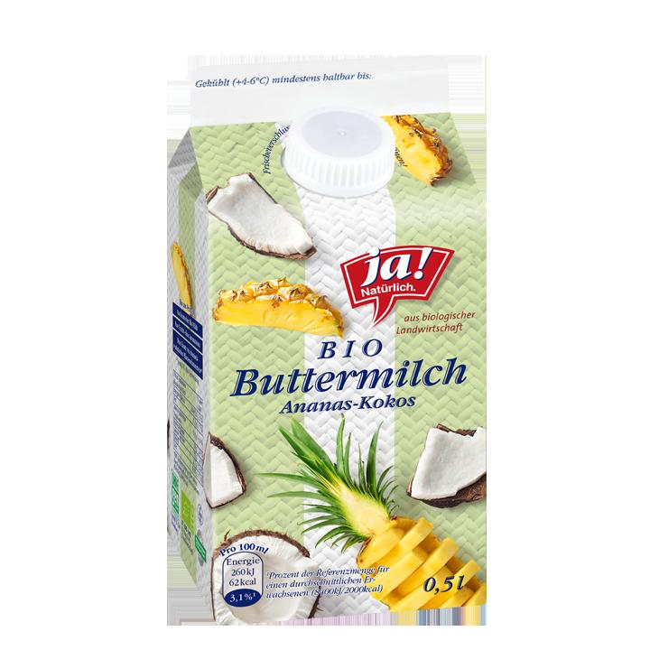Buttermilch Ananas Kokos 0.5lt
