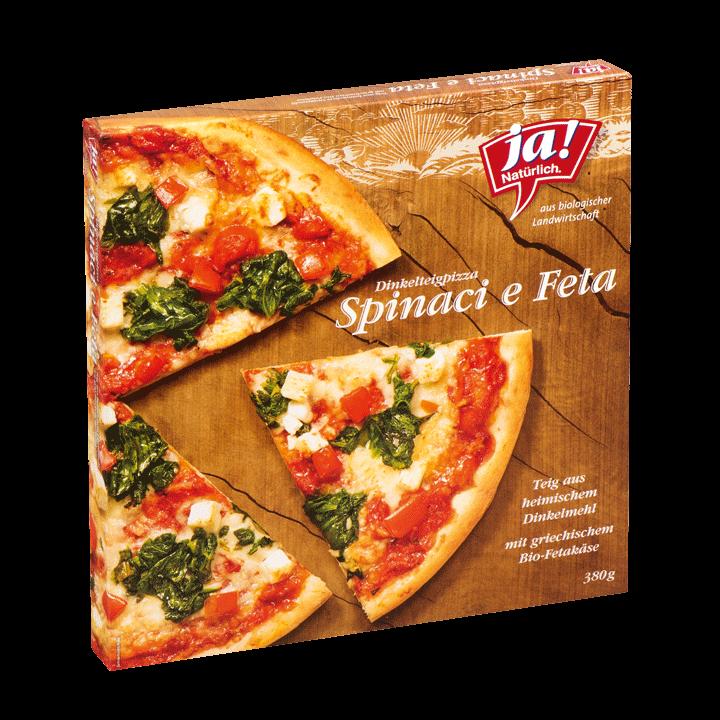 Bio-Pizza Spinat und Feta