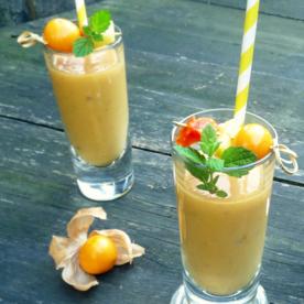Apfel-Ananas-Kaktusfeigen Smoothie