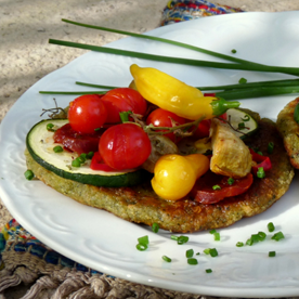 Erdäpfel-Spinat-Blinis