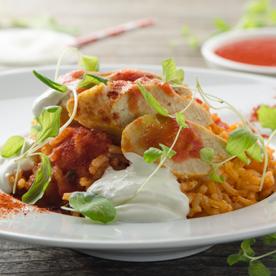 Schnelles Hühner-Reisfleisch
