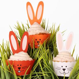 Bio-Karotten-Osterhasenmuffins