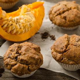 Kürbis-Schoko-Muffins