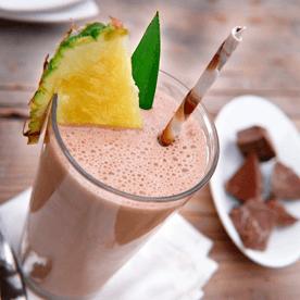 Ananas-Schoko Shake
