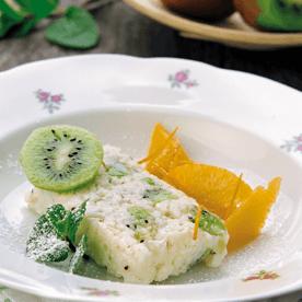 Kiwi Milchreisterrine mit Orangensalat