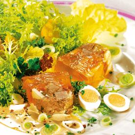 Lammfleisch-Sülzchen mit Gemüse