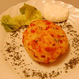 Erdäpfel-Käse-Laibchen