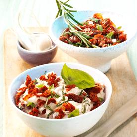 Frischkäse-Tomaten-Creme & Tomaten-Salsa