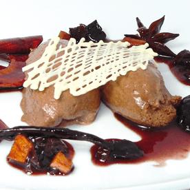 Lebkuchen-Mousse mit Bio Soft-Früchten