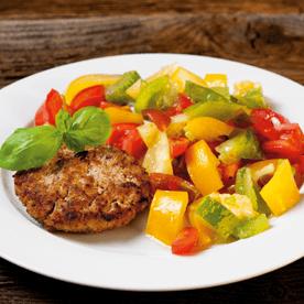 Lammfleisch mit Salat