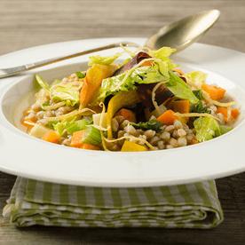 Dinkel-Reis-Karotten-Eintopf (vegan)