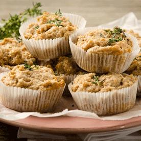 Austernpilz-Dinkelgrieß-Muffins