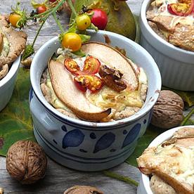 Birnen-Speck-Tartelettes