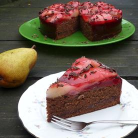 Birnen-Schokolade-Torte