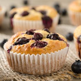 Joghurt-Heidelbeer-Muffins m. Cashewkernen (glutenfrei)