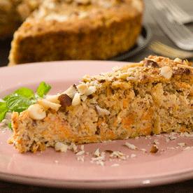 Karotten-Apfel-Kuchen mit Paranüssen (glutenfrei)