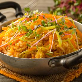 Vegetarischer Kürbis-Paprika-Reis