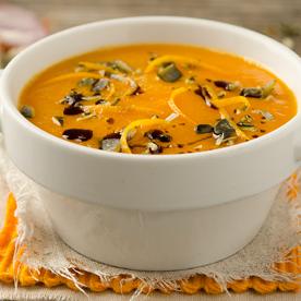 Karotten-Blutorangen-Suppe