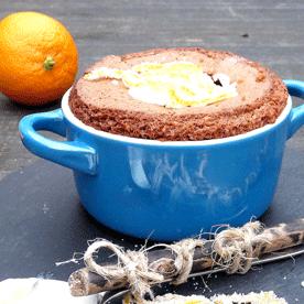 Schoko-Orangen-Küchlein mit weißer Schokolade