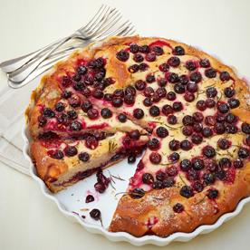 Traubenkuchen mit Rosmarin