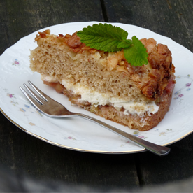 Rhabarber-Marzipan-Torte mit Mandel-Krokant