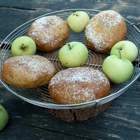 Apfelzelten mit Klaräpfel