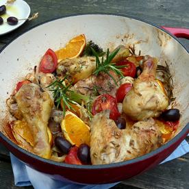 Mediterranes Huhn mit Fenchel und Oliven